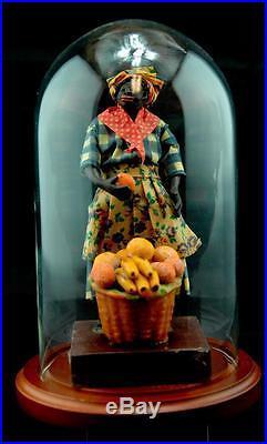 Vintage Vargas Black Wax Doll Figure New Orleans