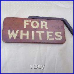 Vintage Wooden Segregation Sign Old And Rare
