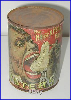 Vintage York River Oyster can Black Americana Negro
