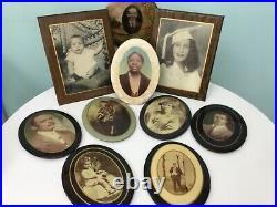Vintage antique African American Black Celluloid Photo Portrait