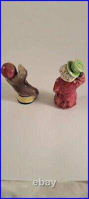 Vintage black Clown & Seal Circus Salt & Pepper Shakers JAPAN AMERICANA