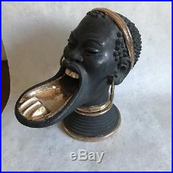 Vintage black americana ashtray