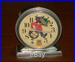 Vtg 1939 1940 UNION PACIFIC RAILROAD black americana ALARM CLOCK windup WORKS