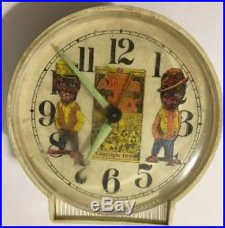 Vtg 1939 Amos N Andy Black Americana Advertising Clock