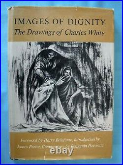 Vtg 1969 IMAGES of DIGNITY by CHARLES WHITE Art Drawings of Black Experience