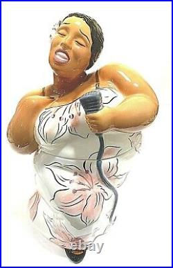 Vtg Black Americana, Jazz Diva / Cookie Jar by Clay Art / Jazz Singer