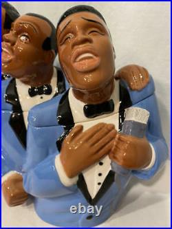 Vtg Clay Art 1998 Soul Tones Jazz Singers Black Americana Cookie Jar Mens TRIO