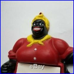 Vtg Made in USA Plastic Black Americana AUNT JEMIMA MAMMY Memo Note Pad Holder