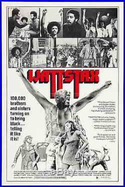 WATTSTAX orig 1973 onesheet movie poster RICHARD PRYOR/JESSE JACKSON/ISAAC HAYES