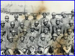 WW2 YARD LONG PHOTO AFRICAN AMERICAN 452ND ANTI AIRCRAFT BATTALION Normandy RARE
