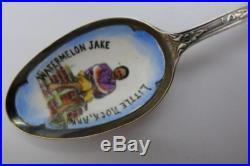Watermelon Jack Enamel Sterling Silver Souvenir Spoon Little Rock Arkansas Rare