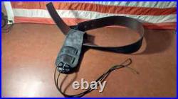 Western Cowboy Black Leather Holster and Belt Large 39 47 Waist / Hip