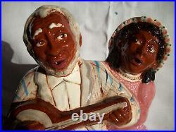 Wisecarver Banjo Couple Cookie Jar A Black Americana Jar Rick Wisecarver Le