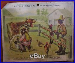 XRARE c1890 Advertising Card SET Pedro Cut Plug Milk in Fly Time Black Americana