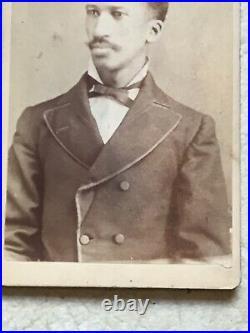 XXX RARE 1800 S AFRICAN AMERICAN MAN Cabinet Card PHOTO NAMED DANIEL KENNEDY